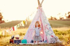 teepee made from an old quilt