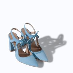 HIGH HEEL LEATHER COURT SHOE WITH BOW from Zara, these are cute!