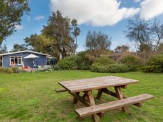 Beautifully appointed beachside cottage perfect for families including pets. Located metres from the bayside beach at Rye, Mornington Peninsula, Victoria, Australia