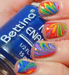 Let them have Polish!: 31 Day Challenge 2012! Day Nine: Rainbow Nails