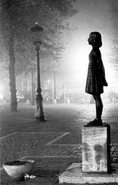 Utrecht, Netherlands, Postwar, A statue of Anne Frank.                                                                                                                                                                                 More