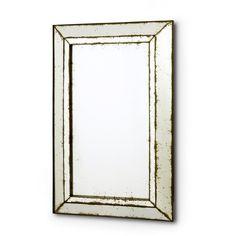Daumier Classic Bar Mirror | Antique Glass | Mirror-on-Mirror Frame
