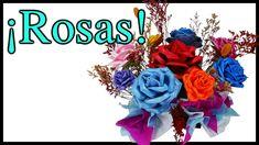 ¡Centro de Mesa con Rosas para toda ocasión! Hecho con Fomi y Moldes de ...