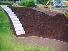 Treppe und Grilleckchen im Garten Garten,Granit,Treppe