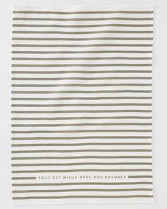 French Stripe Tea Towel from Studiopatro. I love, love stripes and the French phrase printed on this.