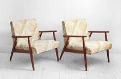 Mid-century teak lounge chairs from Hindsvik @Etsy