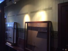 Display cases removed ready for new display areas