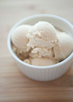 Homemade brown sugar ice cream; be sure to use locally sourced/fair trade ingredients!
