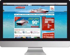 Site de la compagnie maritime, Express des îles #Graphidom
