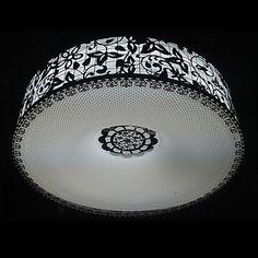 Light in the box 40W Clássico da Luz Monte Lavar com esculpidos Sombra de aço inoxidável em Design Floral (T6 Luz Tube) – BRL R$ 354,75