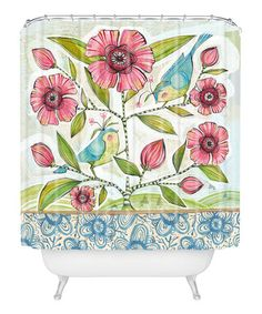 Loving this Blue Birds of Happiness Shower Curtain on #zulily! #zulilyfinds