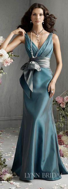 Smoky blue bridesmaid dress. Bridesmaid dresses, bridesmaid dress #lynnbridal#bridesmaid dresses