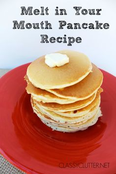 Melt in Your Mouth Pancakes with the BEST syrup recipe! -