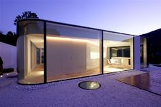 Glass Residence With an Intriguing Architecture : Lake Lugano House