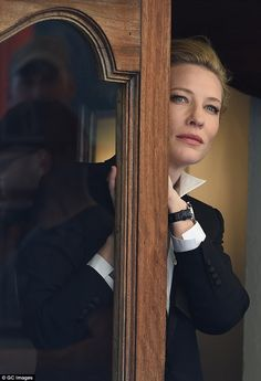 Beautiful: Cate Blanchett is a class act as she poses for the acclaimed International Watch Company