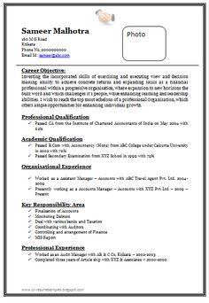 Perfect Resume Template Resume Sample In Word Document Mbamarketing & Sales Fresher
