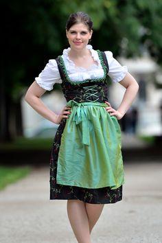 Krueger Traditional Dirndl Corsage Irena Black