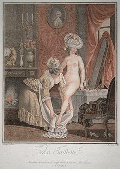 Louis Martin Bonnet after Jollain, La toilette, 1781