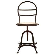 Industrial Pedestal Chair