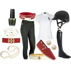 Classic hunter green and burgundy - Polyvore