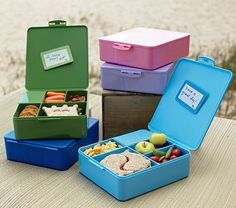 For inside the lunch box? Spencer Bento Box Containers on potterybarnkids.com