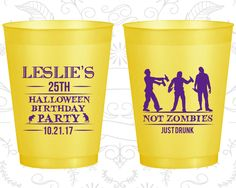 25th Birthday Frosted Cups, Halloween Birthday, Frosted Birthday Cups (20143)