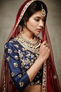 Our beautiful princess bride! #VB #varunbahl #bride #indianbride #bridal #blouse #floral #princess