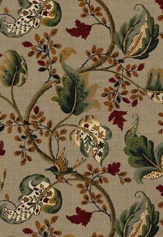 FSchumacher Fabric 2639641 Fox Hollow Multi On Flannel