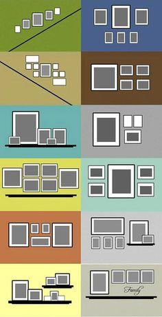12 exemplos para dispor os quadros nas paredes da sua casa. Super útil!