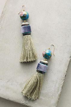 Slide View: 1: Tassel-Drop Earrings