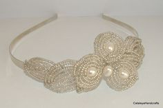 1920's Inpired Bridal Heaband with Pearls by CataleyaHandcrafts