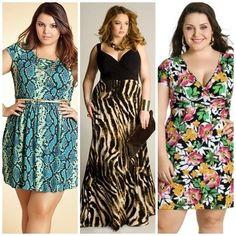 Vestidos plus size estampados
