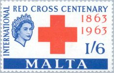 Red Cross Stamp from Malta