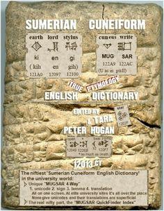 Sumerian Cuneiform English Dictionary Cover 12013CT v17