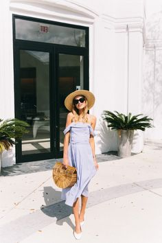 Off the shoulder dress, perfect spring style