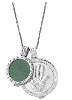 Mi Moneda large Hamsa coin with green suede small coin Hamsa, Old Coins, Bare Necessities, Green Suede, Personalized Necklace, Jewelry Branding, Luxury Jewelry, Sterling Silver Necklaces, Jewelery