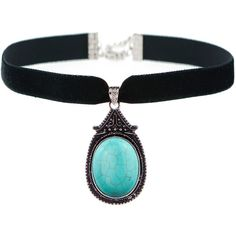 ZARIA Turquoise Choker ($30) ❤ liked on Polyvore featuring jewelry, necklaces, pendant necklace, turquoise jewelry, turquoise necklace, choker pendants and choker jewelry