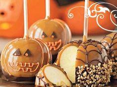 CUTE Halloween Caramel Apples