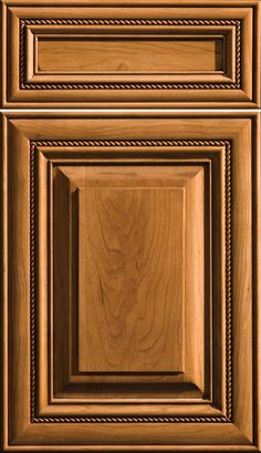 Waterton Style Doors, Cabinetry, Cabinet Door, Shown in Cherry and Butternut with Coffee Glaze Finish Raised Panel Cabinet Doors, Wood Cabinet Doors, Panel Doors, Wooden Doors, Cabinet Door Designs, Kitchen Cabinet Door Styles, Kitchen Cabinet Doors, Wooden Front Door Design, Main Door Design