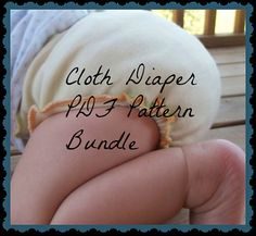 Cloth Diaper Pattern Bundle Newborn and One Size by 31Rubies, $8.00