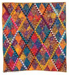 Ikat Diamonds Quilt Pattern