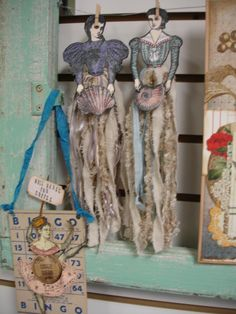 Fiber Dolls using Character Constructions stamps.