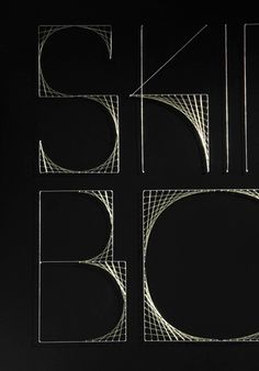 Exhibition Graphics / 3D Pin and Thread Typographic treatment / Multistorey