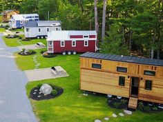 Tiny House Hotels offer the full experience of the tiny house lifestyle for a few days or a few months. Some tiny house hotels offer tiny house rv parking.
