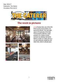 The Caterer - The Kitchen launch!