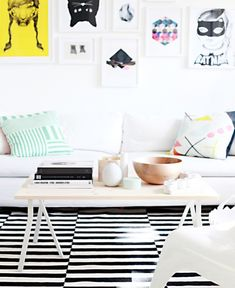 IKEA coffee table in Scandinavian style is easy to make.