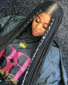 85 Box Braids Hairstyles for Black Women - Hairstyles Trends Box Braids Hairstyles, Half Braided Hairstyles, Braided Hairstyles For Black Women, My Hairstyle, African Hairstyles, Black Hairstyles, Hairstyles 2018, Modern Hairstyles, Hairstyles Pictures