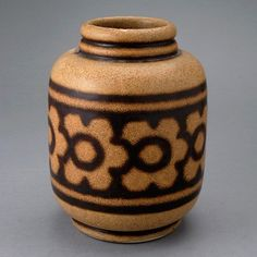 Charles Catteau Stoneware Vase
