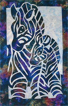 Zebra 2 Fabric Applique Pacific Rim Quilt Pattern NEW #PacificRimQuiltCompany