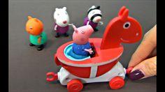 Peppa Pig en español. Peppa Cerda y sus amigos montan a caballo. George ...